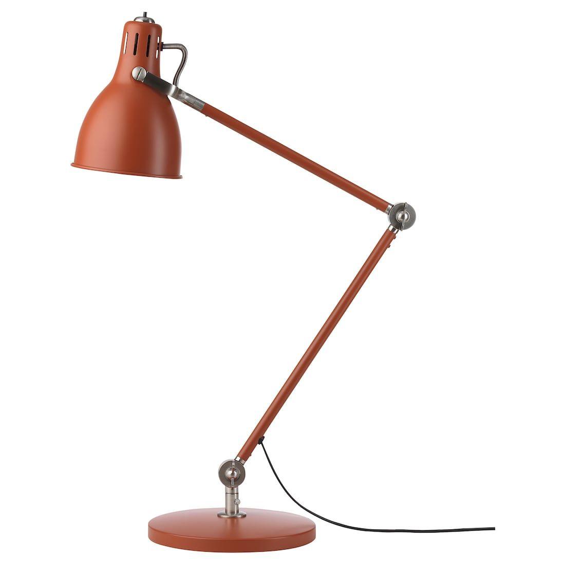 Arod Lampe De Bureau Brun Rouge Ikea Lampe De Bureau Lampe De Chevet Design Ikea