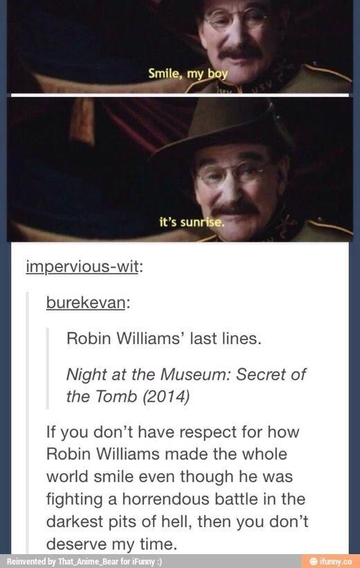 This Hit Me Hard Night At The Museum Movie Quotes Robin Williams
