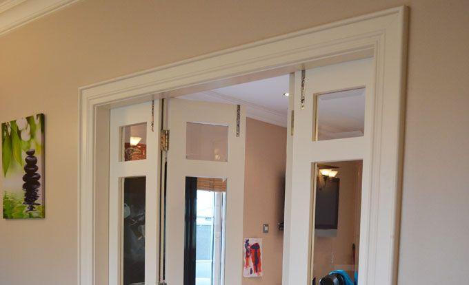Painted Hardwood Bi Folding Doors Private Client Location Northern Ireland House Design