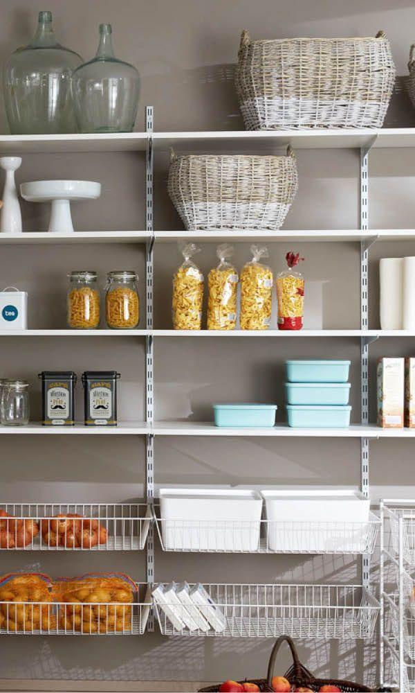 REGALE - für Wohnzimmer, Küche, Kinderzimmer | Rangement cellier, Aménager cellier et Rangement ...