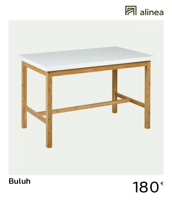 Table Haute Rectangulaire Blanche L120cm Buluh 120x70 Table Haute Table Haute Meuble Salle A Manger Table