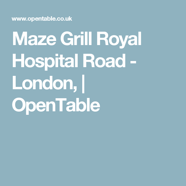 Maze grill royal hospital road london opentable restaurants maze grill royal hospital road london opentable malvernweather Image collections