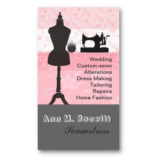 Trendy Crafts Sewing Fashion Business Card Templates | Business ...