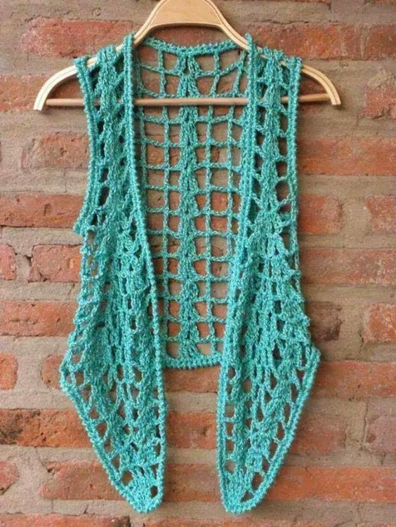 5e216901e Tejidos para la Mujer Moderna: Chaleco Calado | como tejer bolsos ...