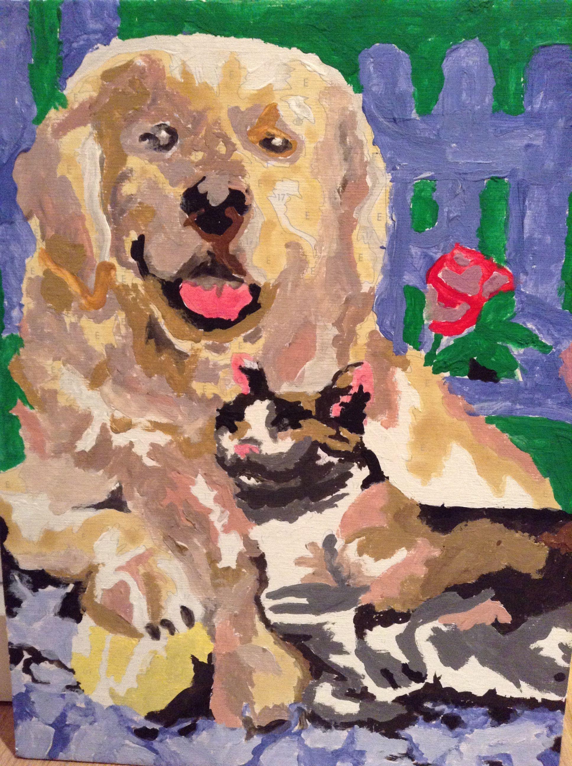 Perro y gato#populares#mascotas#arte#pintura#acuarelas