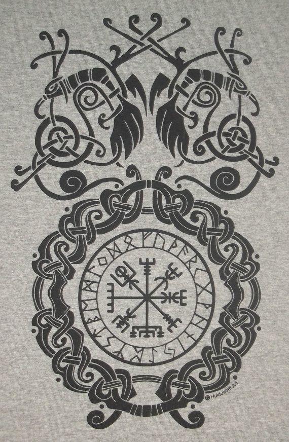 Yggdrasil Circle T-Shirt Tree of Life Odin Viking Arbre de la vie weltenbaum
