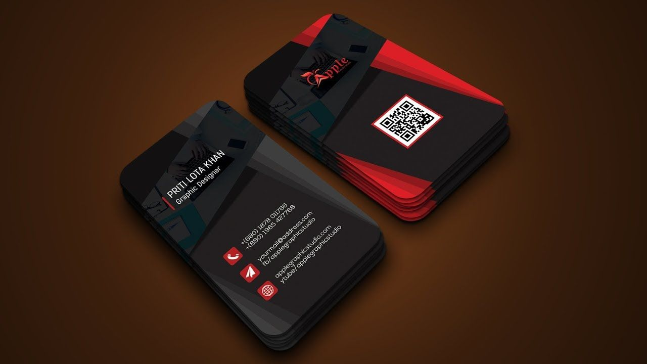 Awesome 3d business card design tutorial 3d