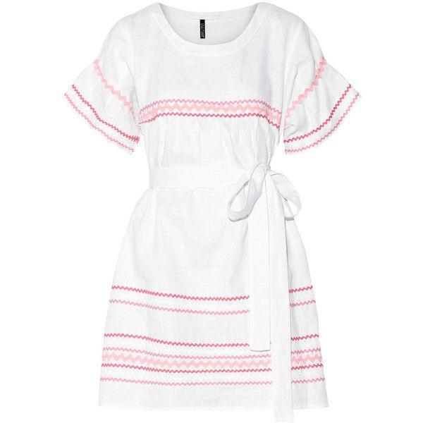 Fiesta Rickrack-trimmed Linen Mini Dress - White Lisa Marie Fernandez Discount Great Deals Cheap Best Prices 2r10H