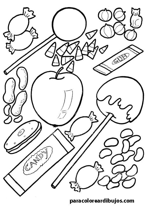 Colorear Dibujos Infantiles De Dulces Buscar Con Google Cocinar