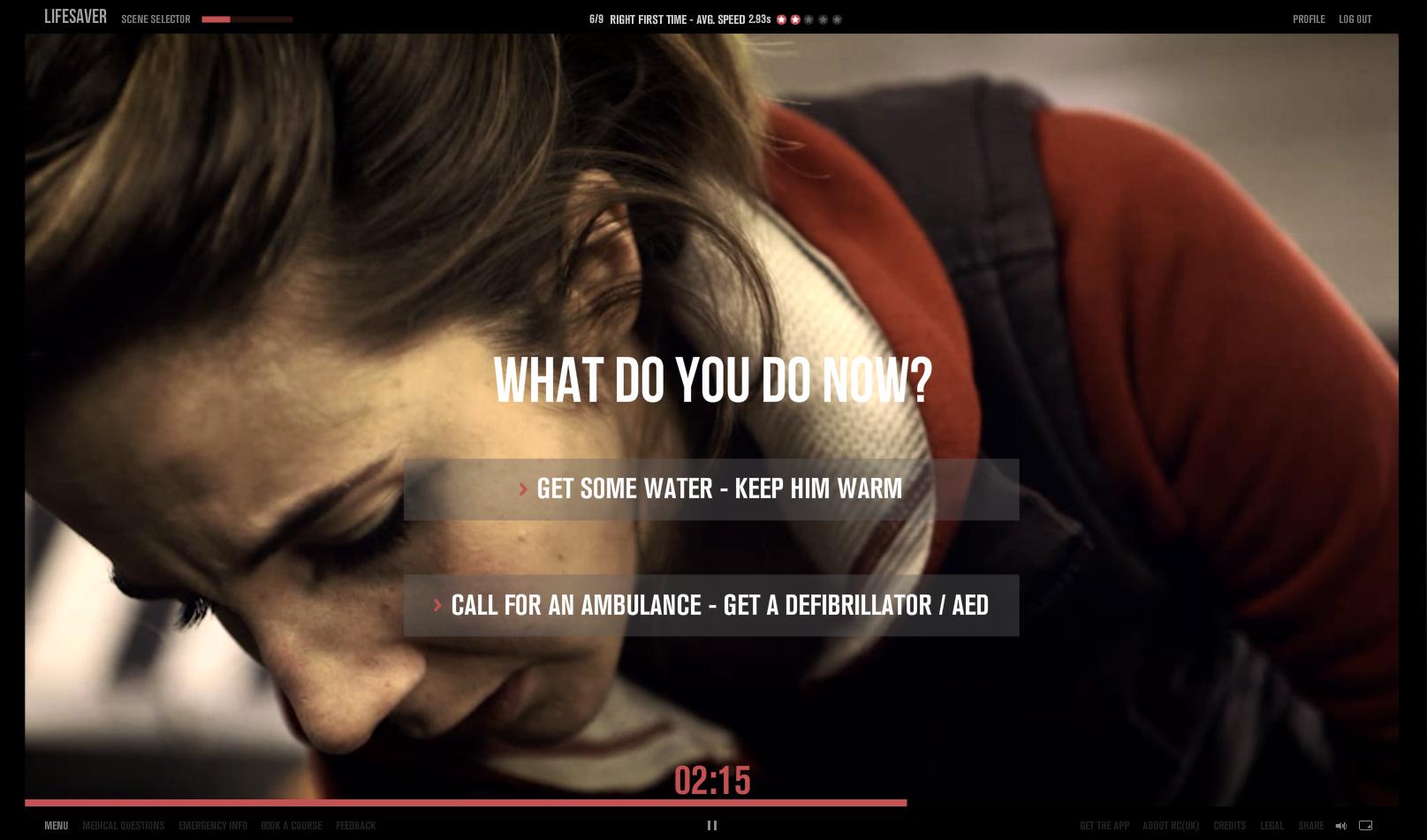 https://life-saver.org.uk/ Unit9 為英國 Resuscitation Council 協會做的互動網站,利用逼真的情境,以及簡單的互動機制,讓你了解遇到這樣的狀況時候 WHAT YOU SHOULD DO. 同時也有手機與平板版本。快來試試看下次遇到這種情形,你可以嗎?