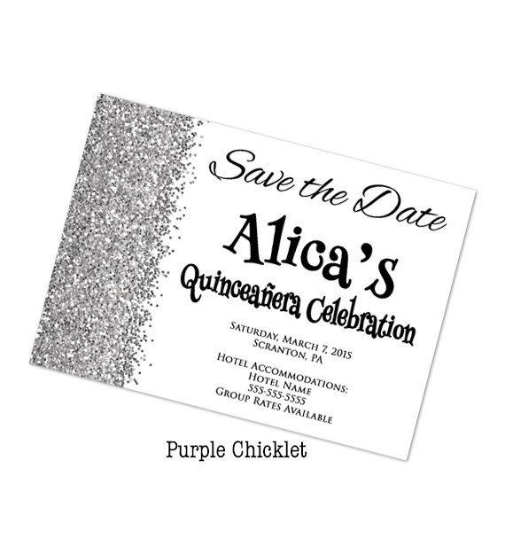 Save the Date Quinceañera Celebration Birthday Invitation Silver - birthday invitation for adults