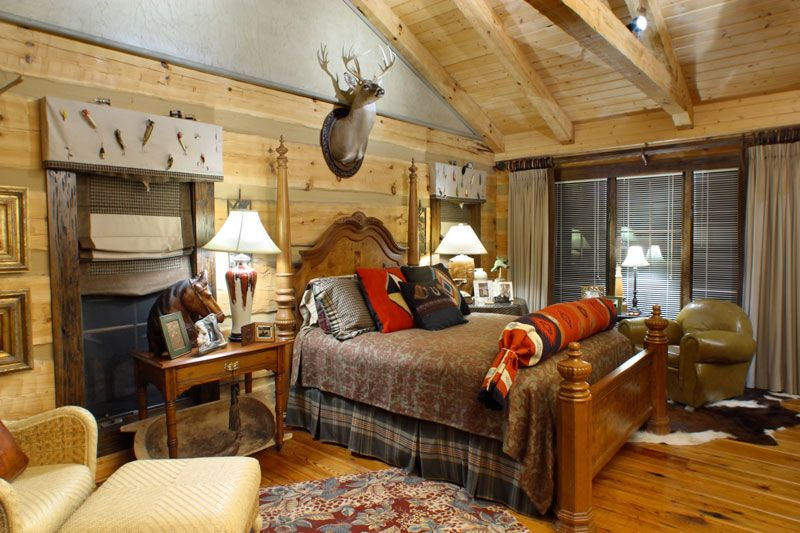 Outdoors+Themed+Boys+Room | Guest Bedroom #1 Has A Fishing/Hunting