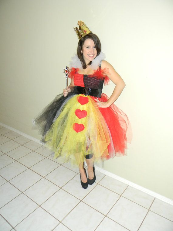Adult Queen of Hearts Tutu Dress by KissABelleBoutique on Etsy