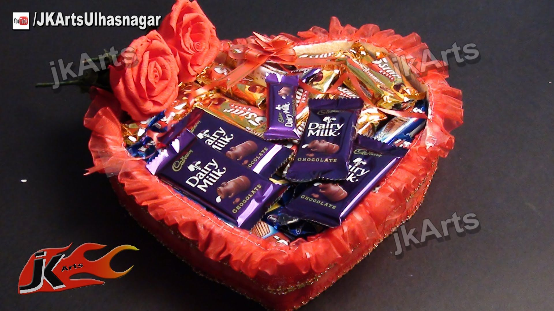 Diy Gift Idea Chocolate Gift Basket How To Make Jk Arts 481