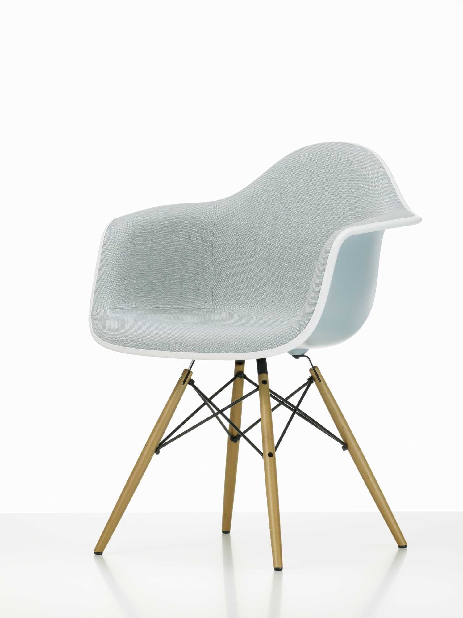 Vitra Eames Plastic Arm Chair DAW Chair Fully Upholstered