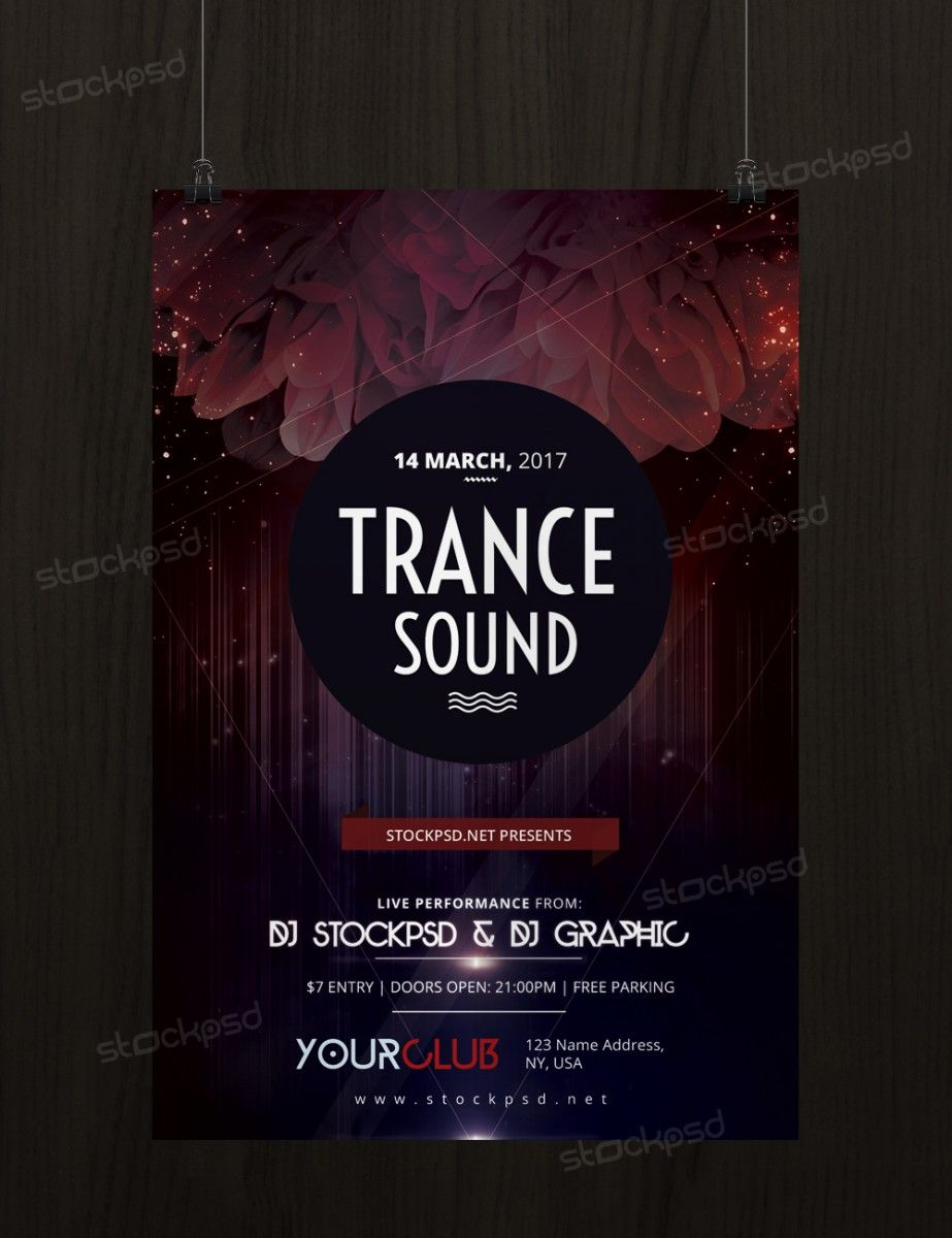 Trance Sound – Free PSD Flyer Template - FreePSD | Freebie PSD Flyer ...