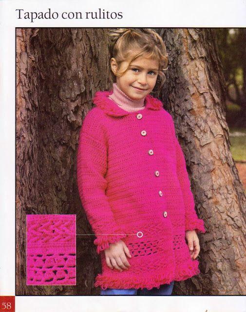 Ideas para el hogar: Abrigos para niñas | crochet niños | Pinterest ...