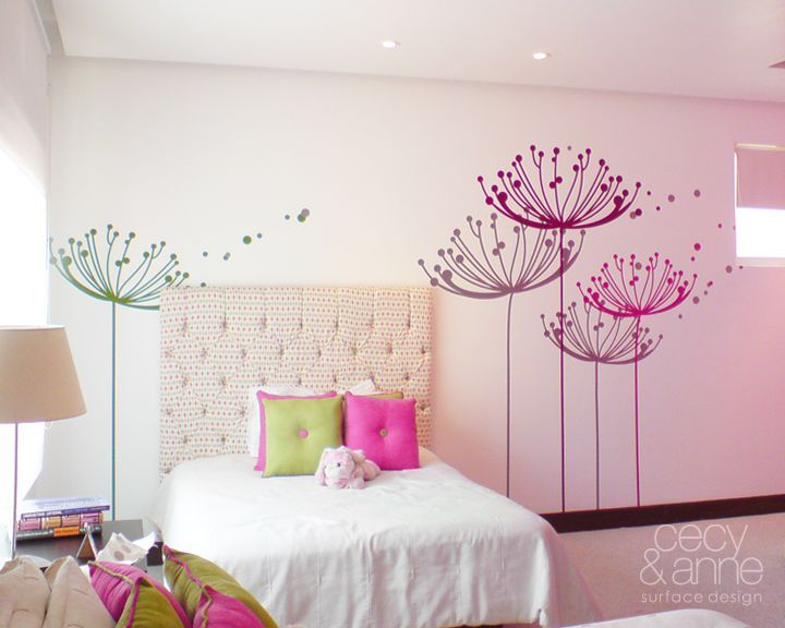 Diente de leon by islasmowin on deviantart kid s room - Decoracion de paredes pintadas ...