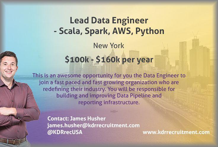 New Job Lead Data Engineer Scala, Spark, AWS, Python