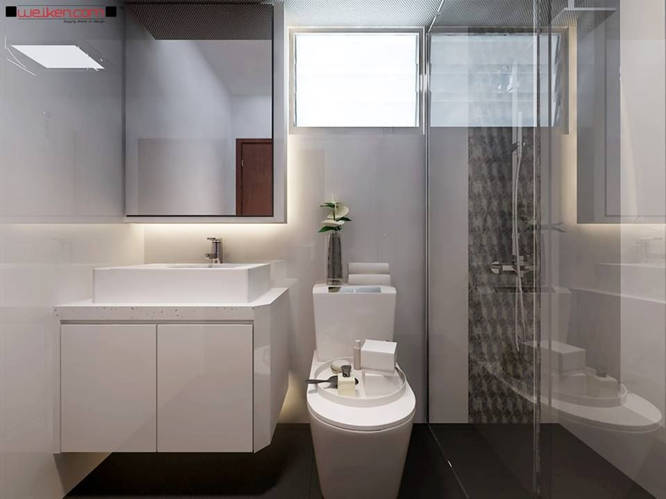 Weiken Interior Modern Classic Master Bathroom   Look Like A Solid Surface  Vanity.