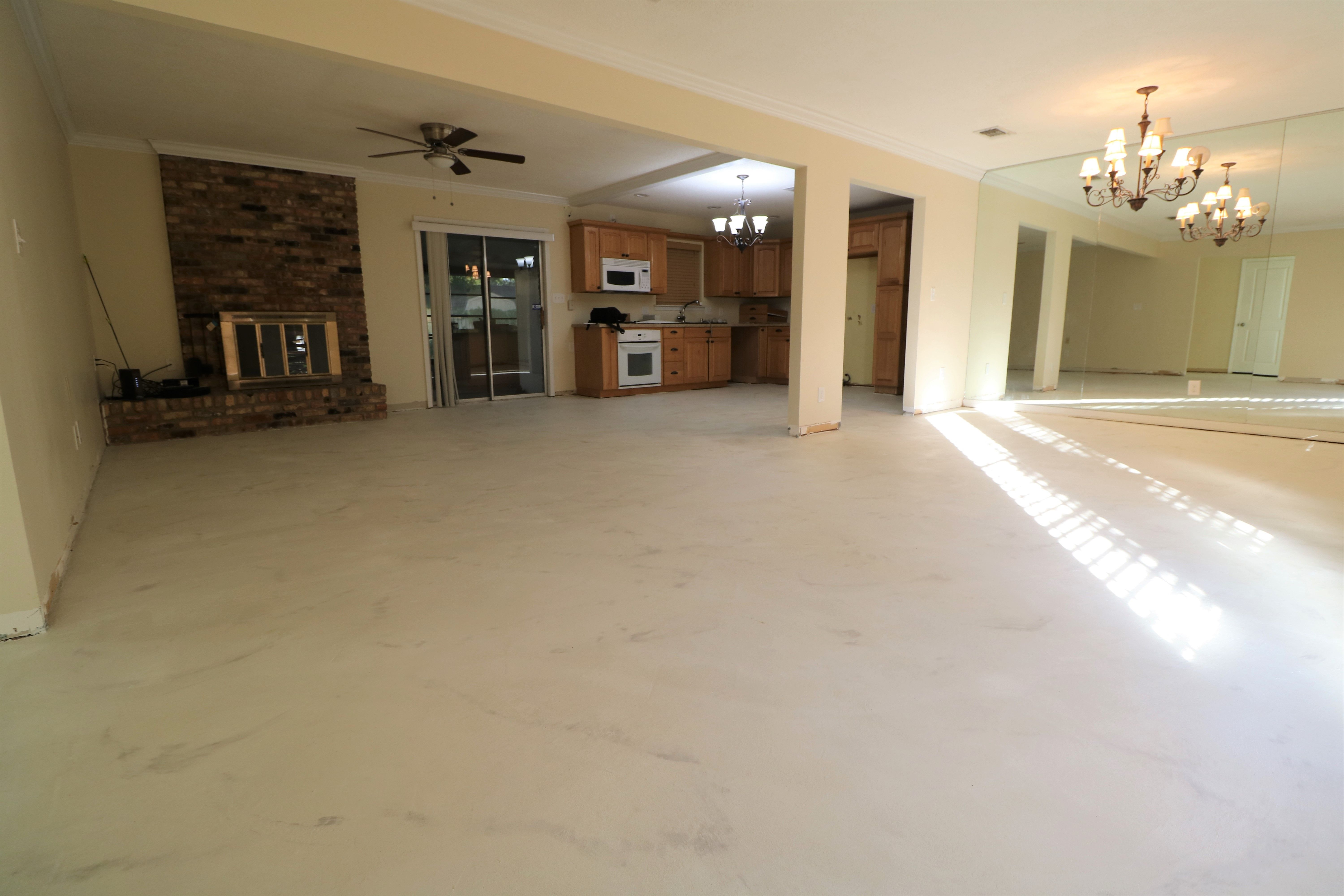 Gorgeous White Concrete Overlay With Gray Accents Concrete
