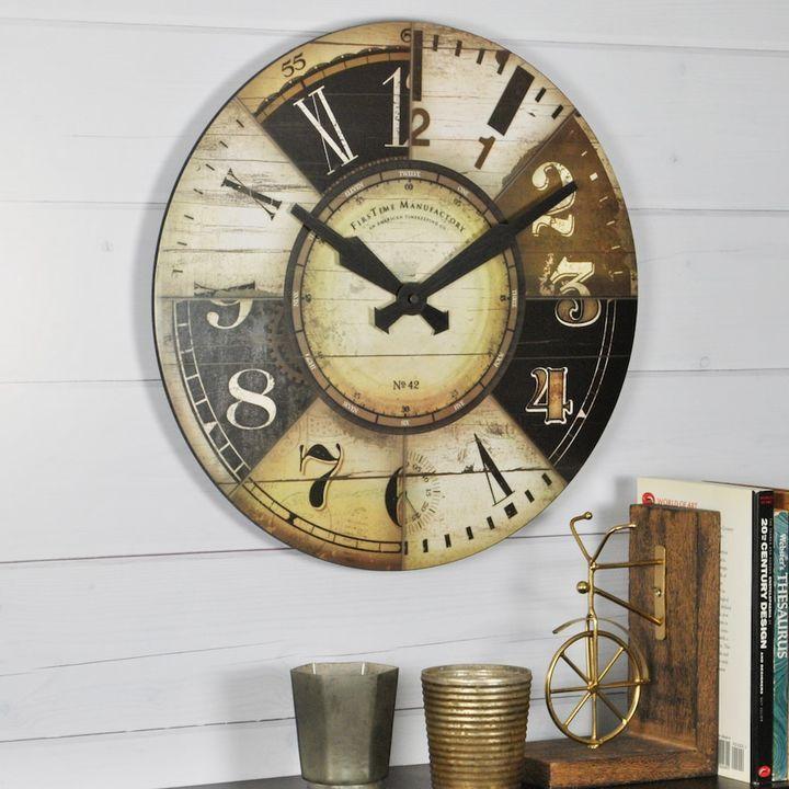 FirsTime Collector Wall Clock #homedecor #vintage #wallclock #ad ...