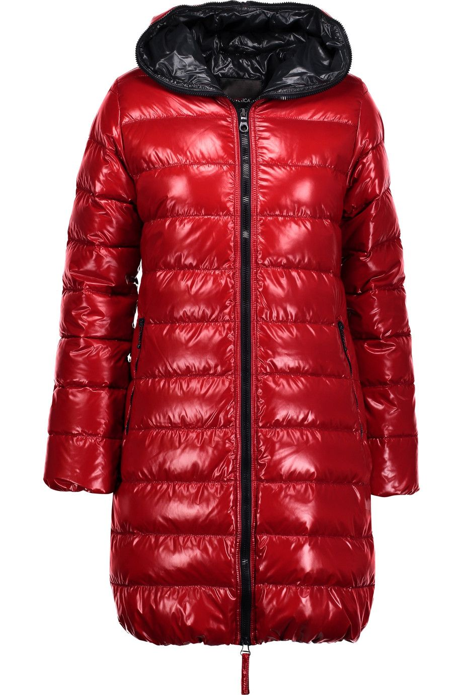 DUVETICA Ace quilted shell hooded down coat. #duvetica