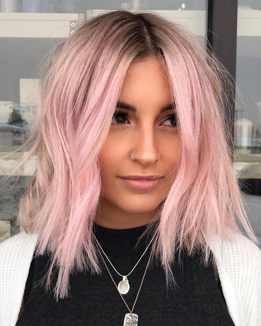 60 Of The Most Stunning Short Hairstyles On Instagram March 2019 Hair Styles Light Pink Hair Pastel Pink Hair Color