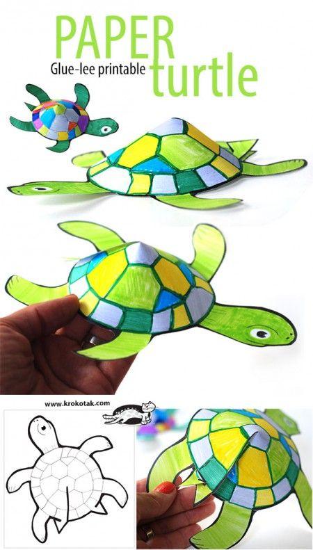 Glue-less printable turtle