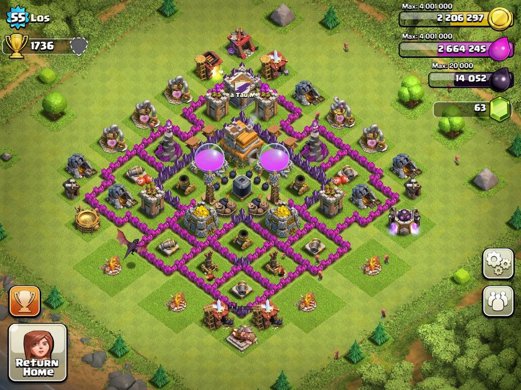 Top 10 Clash Of Clans Town Hall Level 7 Defense Base Design Clash Of Clans Account Clash Of Clans Game Clash Of Clans