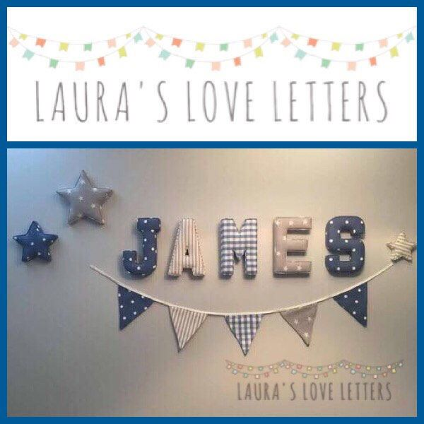 Fabric letters, personalised, initial, name, baby room, nursery - gift letters