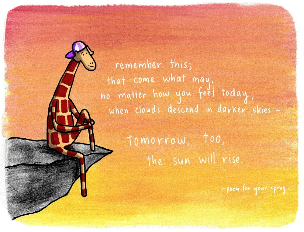 Tomorrow' - illustrated by Penny Redshaw (Motivating Giraffe). | Giraffe  quotes, Giraffe facts, Giraffe art