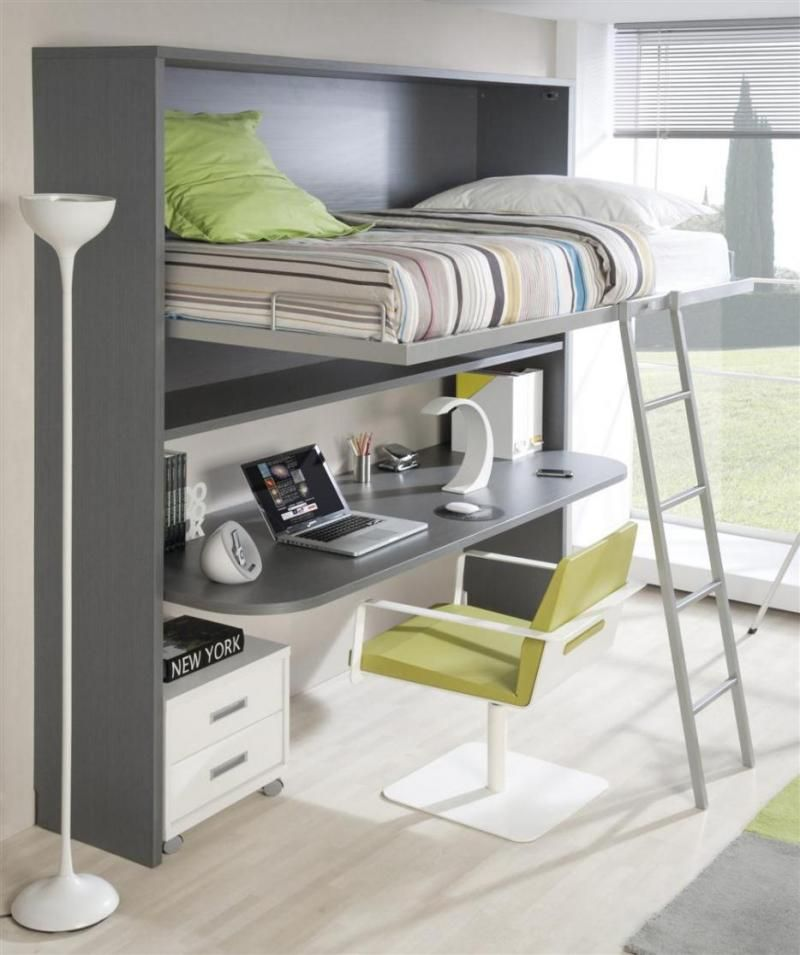 Customisable Fold-Down Wall Bed and Desk Combination - Trendy