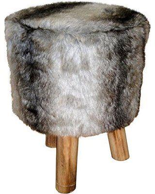 pouf trepied fausse fourrure 30x38 cm winter dream pinterest tr pied fausse fourrure et pouf. Black Bedroom Furniture Sets. Home Design Ideas