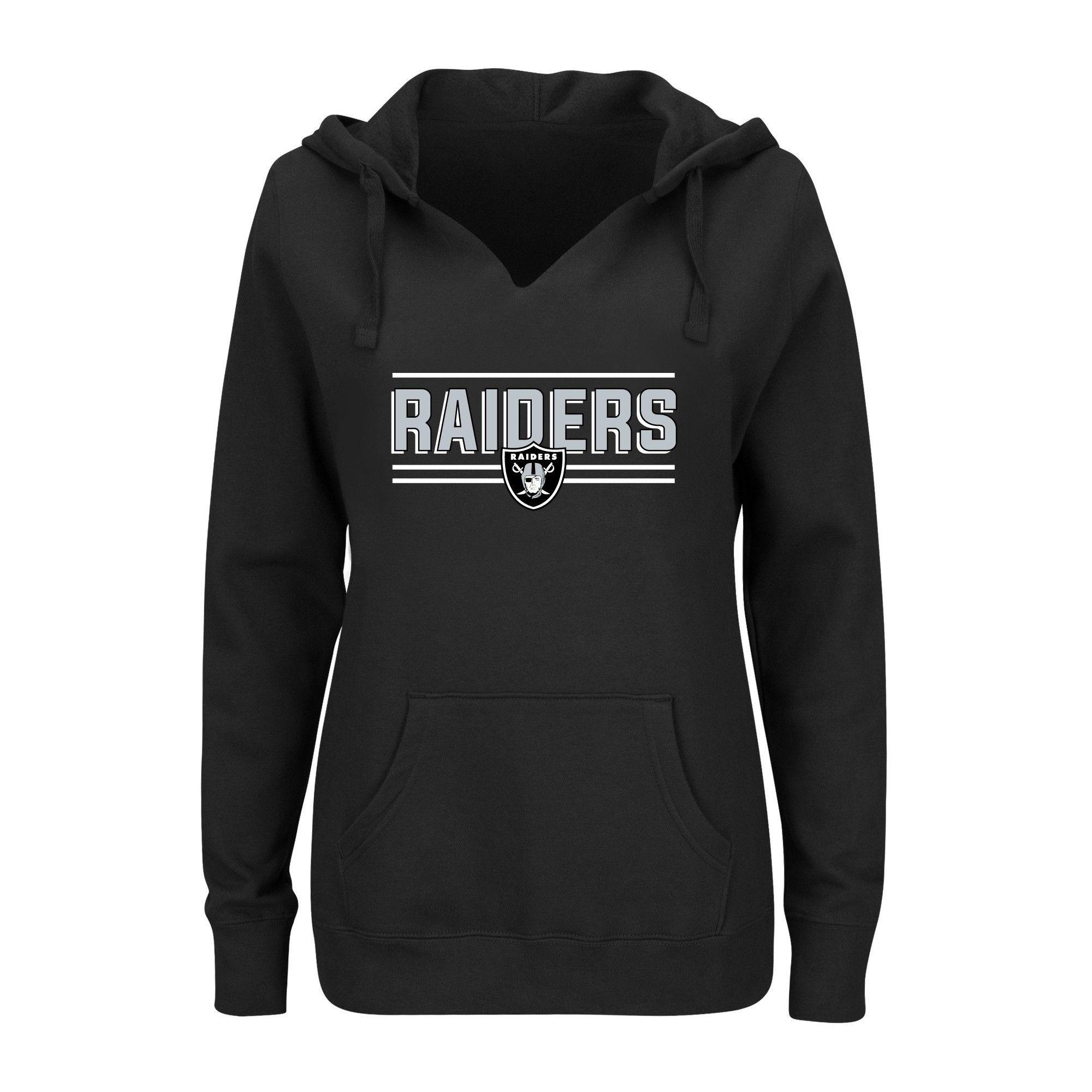cheap for discount f1015 37c49 Oakland Raiders Women's Plus Size Split Neck Hoodie - 4X ...