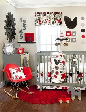 New Red Black and White Bedspread