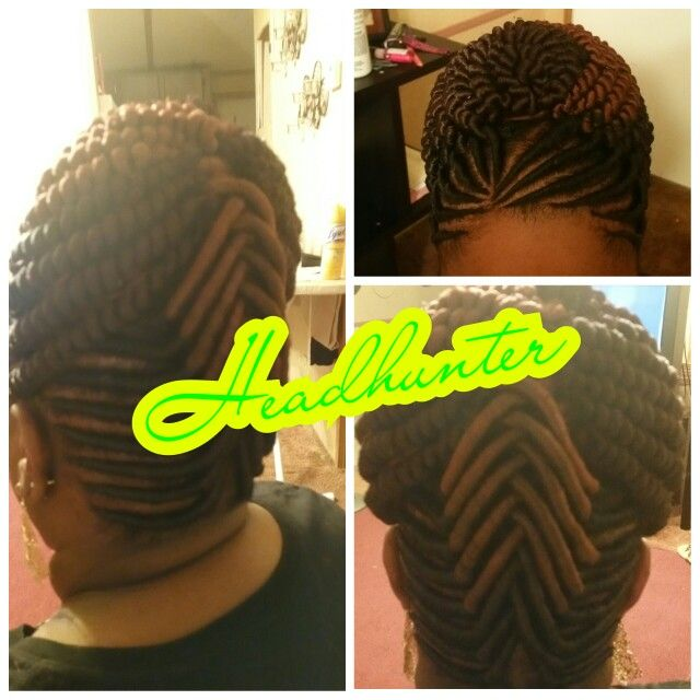 stuffed twist natural hair updo