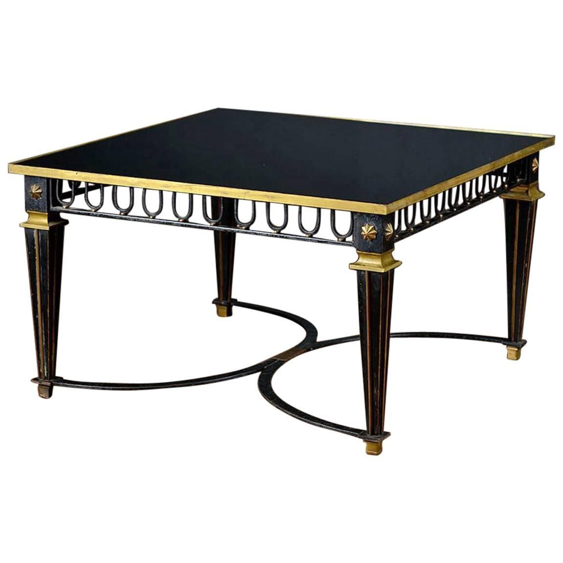 French Coffee Table Dimensions: Antique French Iron Coffee Table