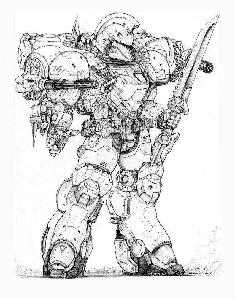 Rifts Ng Demon Slayer Power Armor By Chuckwalton On