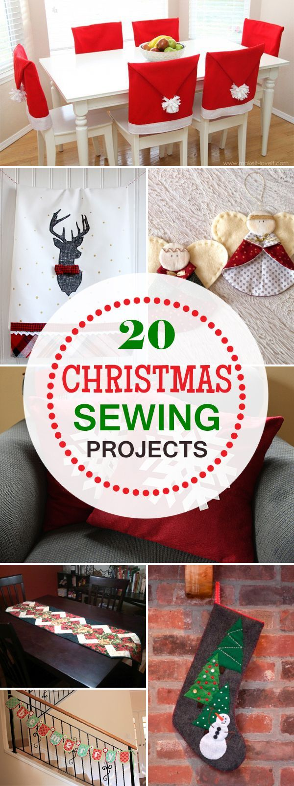 20 Cute And Easy Christmas Sewing Projects Craft Ideas Pinterest