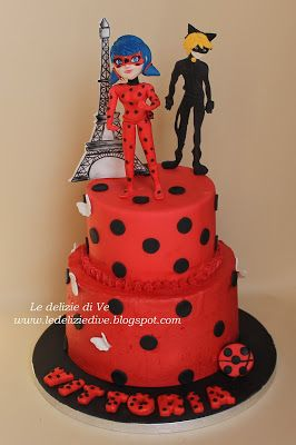 Le delizie di ve ladybug miraculous cake cartoon cake for Decorazioni torte ladybug