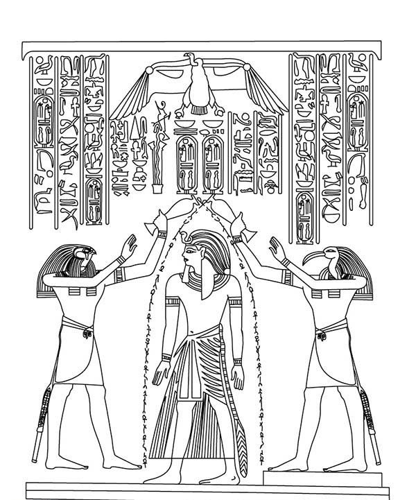 Egyptian Coloring Pages Free Printable Ancient Egypt Coloring ...   721x600