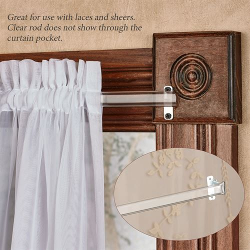 Clear Curtain Rod For Laces And Sheers 28 To 120 Wrap Around