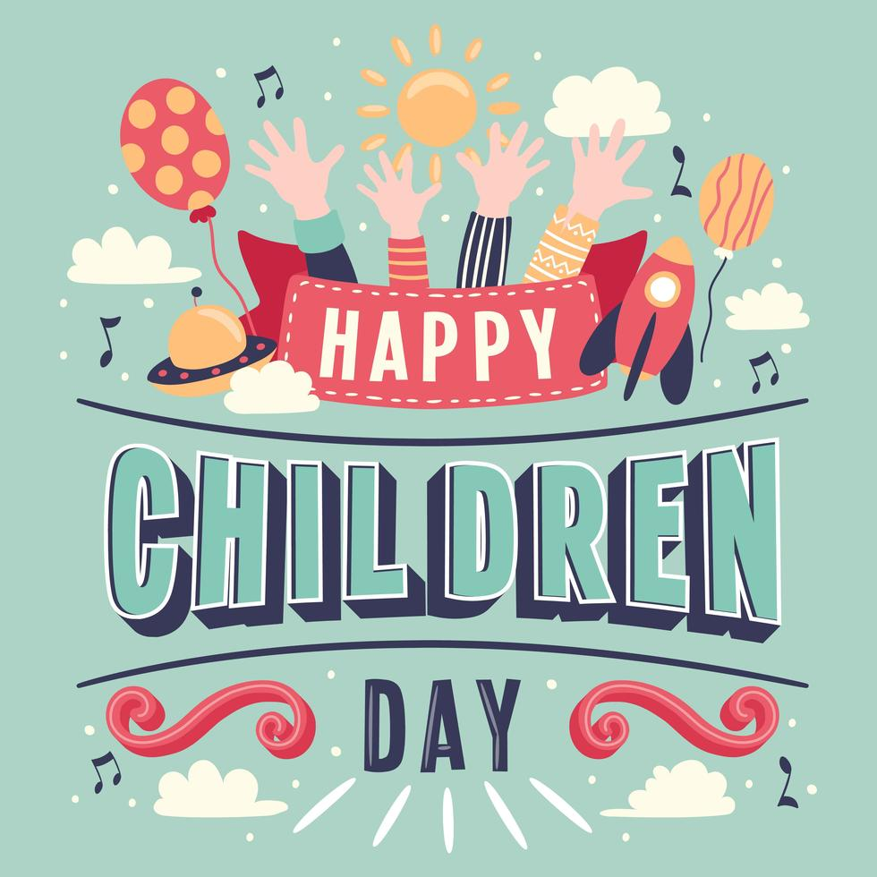 Here Is A Happy Children S Day Card Template Which Is Downloadable And Editable Make Your Own Children S Day Card From A Happy Children S Day Child Day Cards