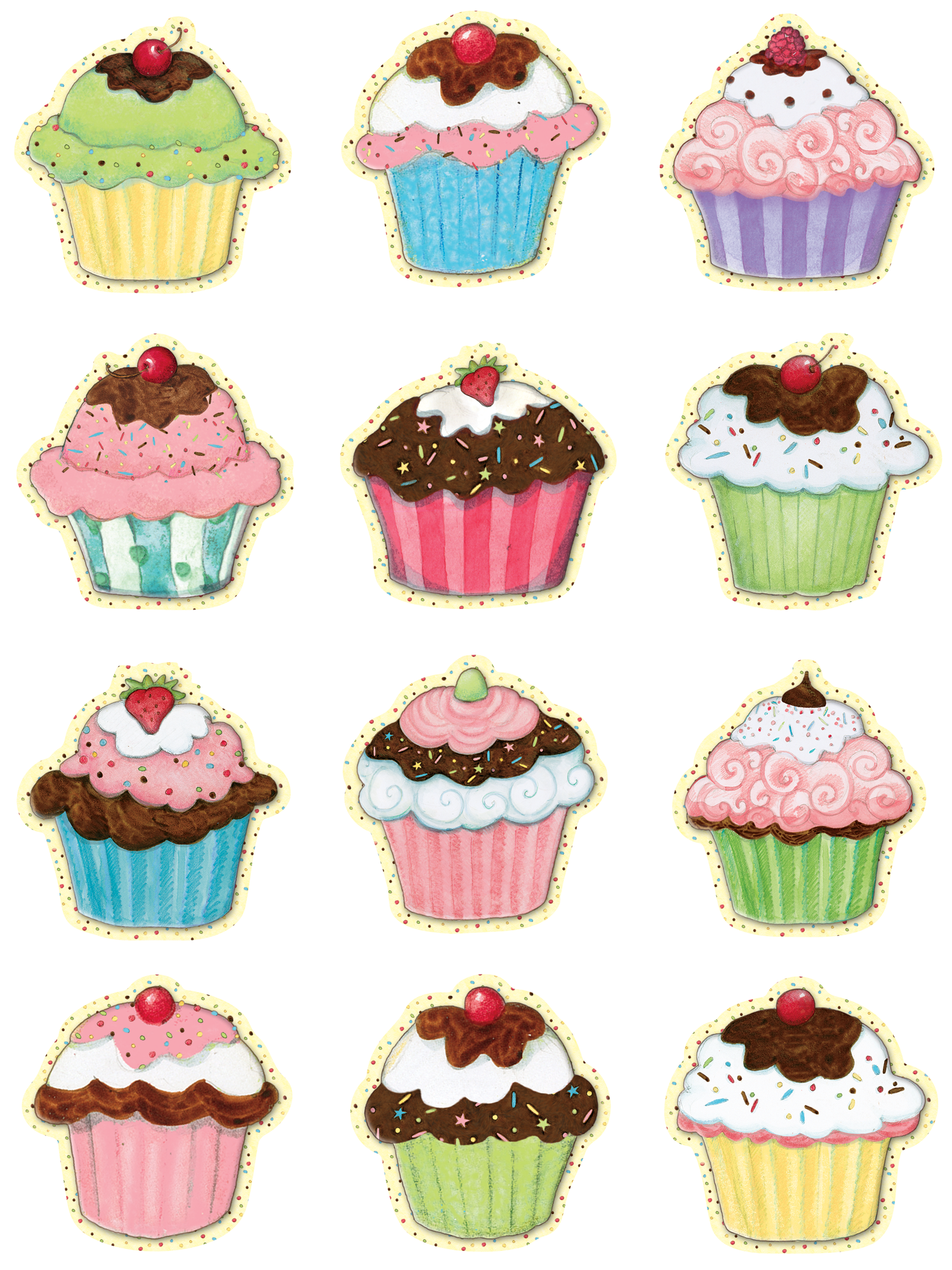 Cupcakes Mini Accents from Susan Winget Teacher created