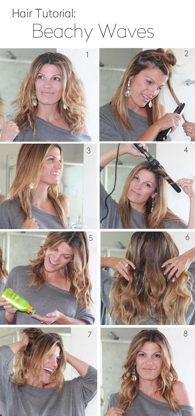 Quick and easy hairstyles for school easy beachy waves tutorials