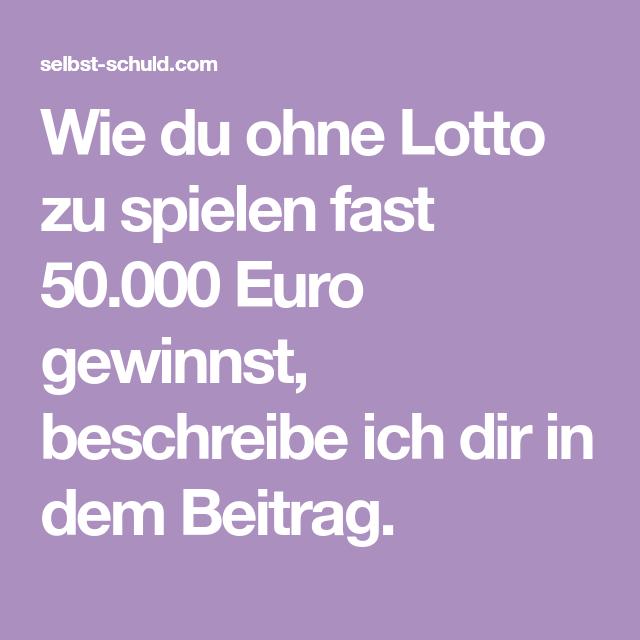 Lotto Spielen Wie Gehts