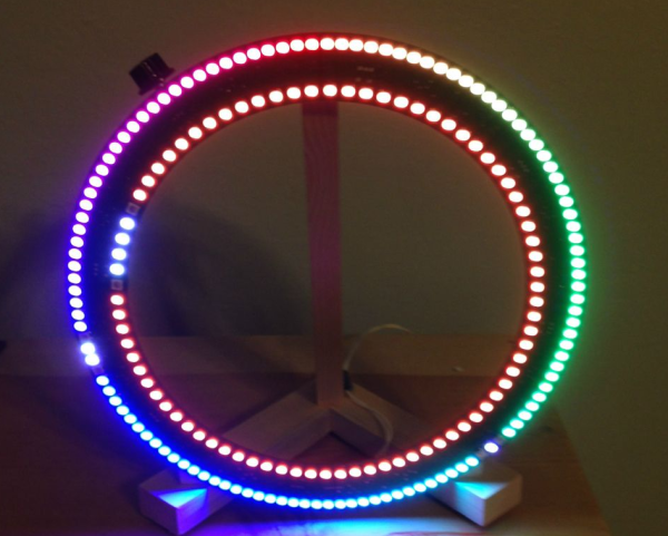 There Are Led Clocks And Then There Are Led Clocks That Can Blind You From 30 Paces Stiggalicious 39 S Led Ring Clock Is Of Ring Clock Led Clock Led Ring