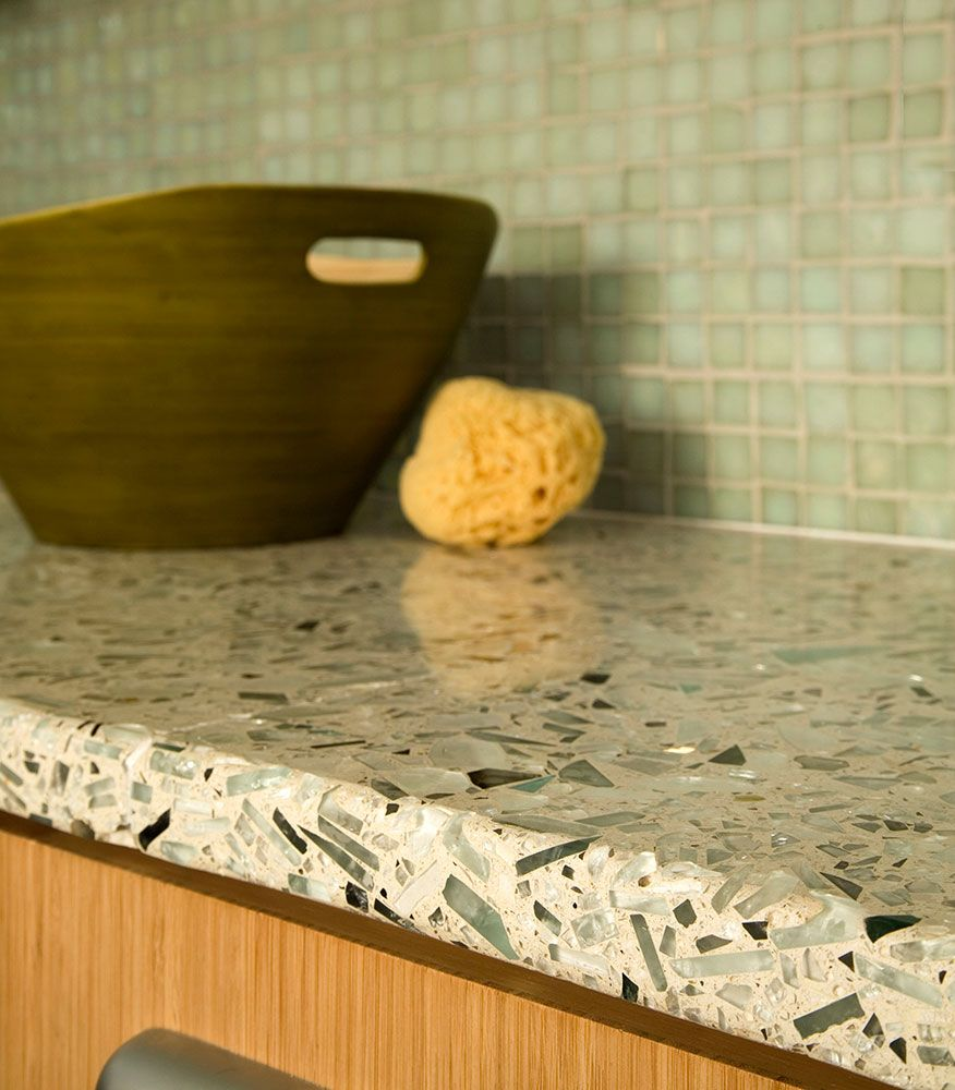 Vetrazzo Countertop   Eco Friendly, Stunning Recycled Glass   Green  Building Supply Recycled Glass