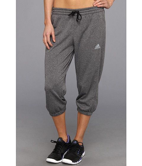 newest 1c7fd c0f84 adidas Boyfriend Terry Capri Dark Grey Heather Black - Zappos.com Free  Shipping BOTH Ways